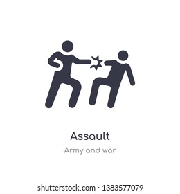 assault icon. isolated assault icon vector illustration from army and war collection. editable sing symbol can be use for web site and mobile app