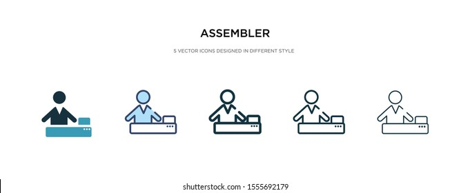 assembler icon in different style vector illustration. two colored and black assembler vector icons designed in filled, outline, line and stroke style can be used for web, mobile, ui