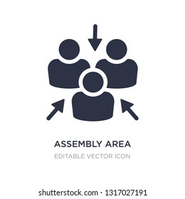 assembly area icon on white background. Simple element illustration from Shapes concept. assembly area icon symbol design.