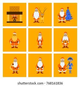 assembly flat illustration Santa Claus