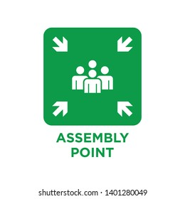 Assembly point signs symbol icon vector