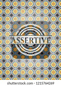 Assertive arabesque emblem background. arabic decoration.