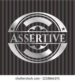 Assertive silvery emblem