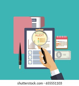 assessment audit concept vector illustration.