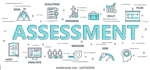 Assessment Process Flat Background