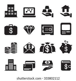 asset / money / Investment icons Set