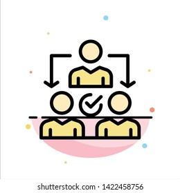 Assignment, Delegate, Delegating, Distribution Abstract Flat Color Icon Template