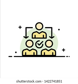 Assignment, Delegate, Delegating, Distribution  Business Flat Line Filled Icon Vector Banner Template