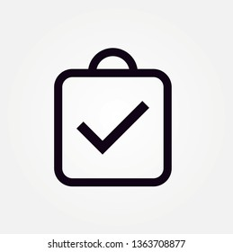 assignment turned in line icon design