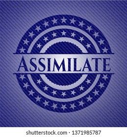 Assimilate badge with jean texture