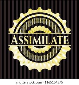 Assimilate golden emblem or badge