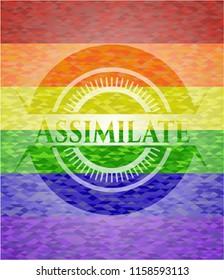 Assimilate lgbt colors emblem