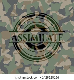 Assimilate on camouflage pattern. Vector Illustration. Detailed.