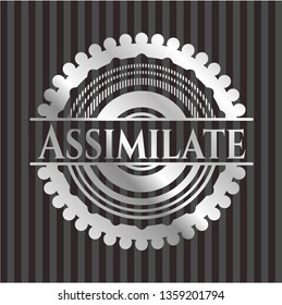 Assimilate silver emblem