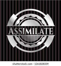 Assimilate silver shiny badge