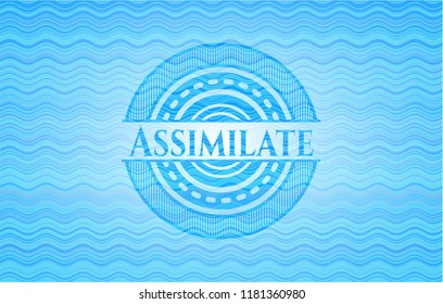 Assimilate water wave style emblem.