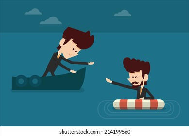 Assistant business concept vector