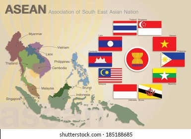 Association of Southeast Asian Nations Map