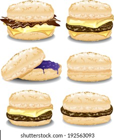 Assorted biscuit sandwiches