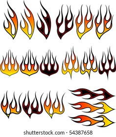 Assorted flame graphics