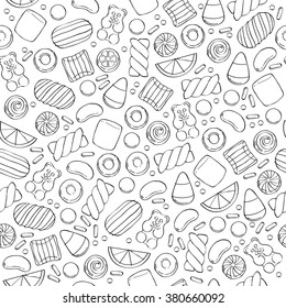 12e12fb0ceda Assorted sweets seamless pattern - marshmallow gummy bears hard candies  dragee jelly beans peppermint candy.