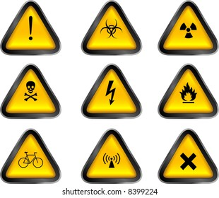 Assorted Warning Buttons