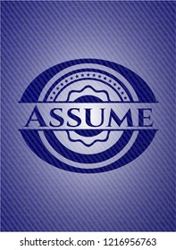 Assume badge with jean texture