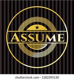 Assume golden emblem or badge