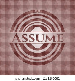 Assume red badge with geometric background. Seamless.