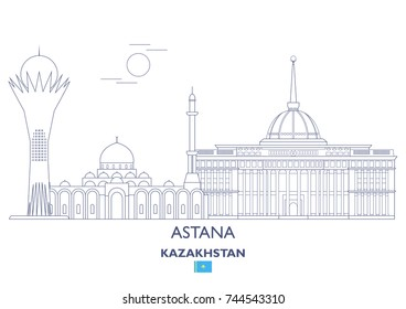 Astana Linear City Skyline, Kazakhstan