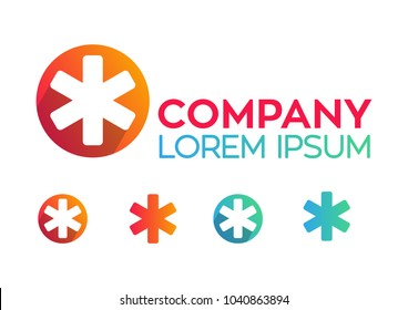 Asterisk gradient circle logo