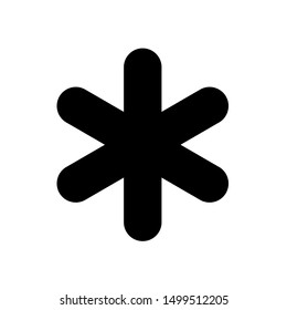 Asterisk icon. Asterisk sign. Flat icon of asterisk isolated on white background. Vector illustration