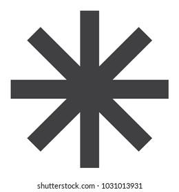 asterisk icon symbol vector