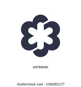 asterisk isolated icon. Simple element illustration from geometry concept. asterisk editable logo symbol design on white background. Can be use for web and mobile.