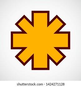 Asterisk Symbol. Vector Color Icon