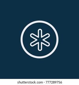 Asterix star vector icon