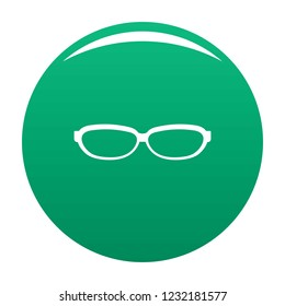 Astigmatic spectacles icon. Simple illustration of astigmatic spectacles vector icon for any design green