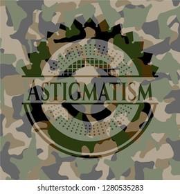 Astigmatism camouflage emblem