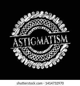 Astigmatism with chalkboard texture. Vector Illustration. Detailed.