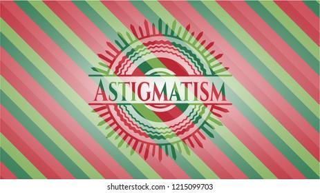 Astigmatism christmas badge background.