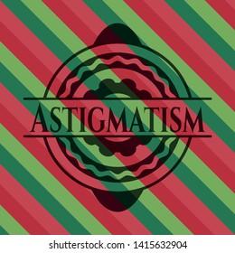 Astigmatism christmas emblem. Vector Illustration. Detailed.