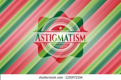Astigmatism christmas style badge..