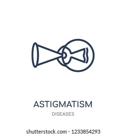 Astigmatism icon. Astigmatism linear symbol design from Diseases collection. Simple outline element vector illustration on white background