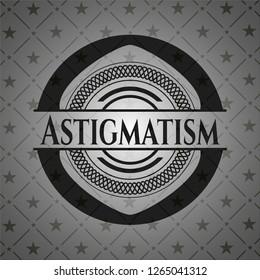 Astigmatism realistic black emblem