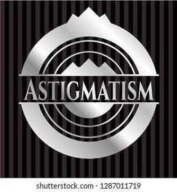Astigmatism silver emblem or badge