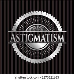 Astigmatism silvery shiny emblem