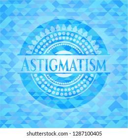 Astigmatism sky blue mosaic emblem