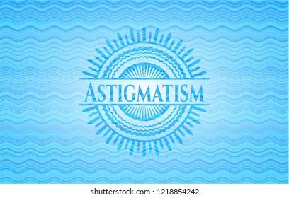 Astigmatism water representation badge.