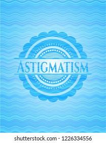 Astigmatism water wave representation emblem.