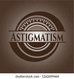 Astigmatism wood emblem. Retro